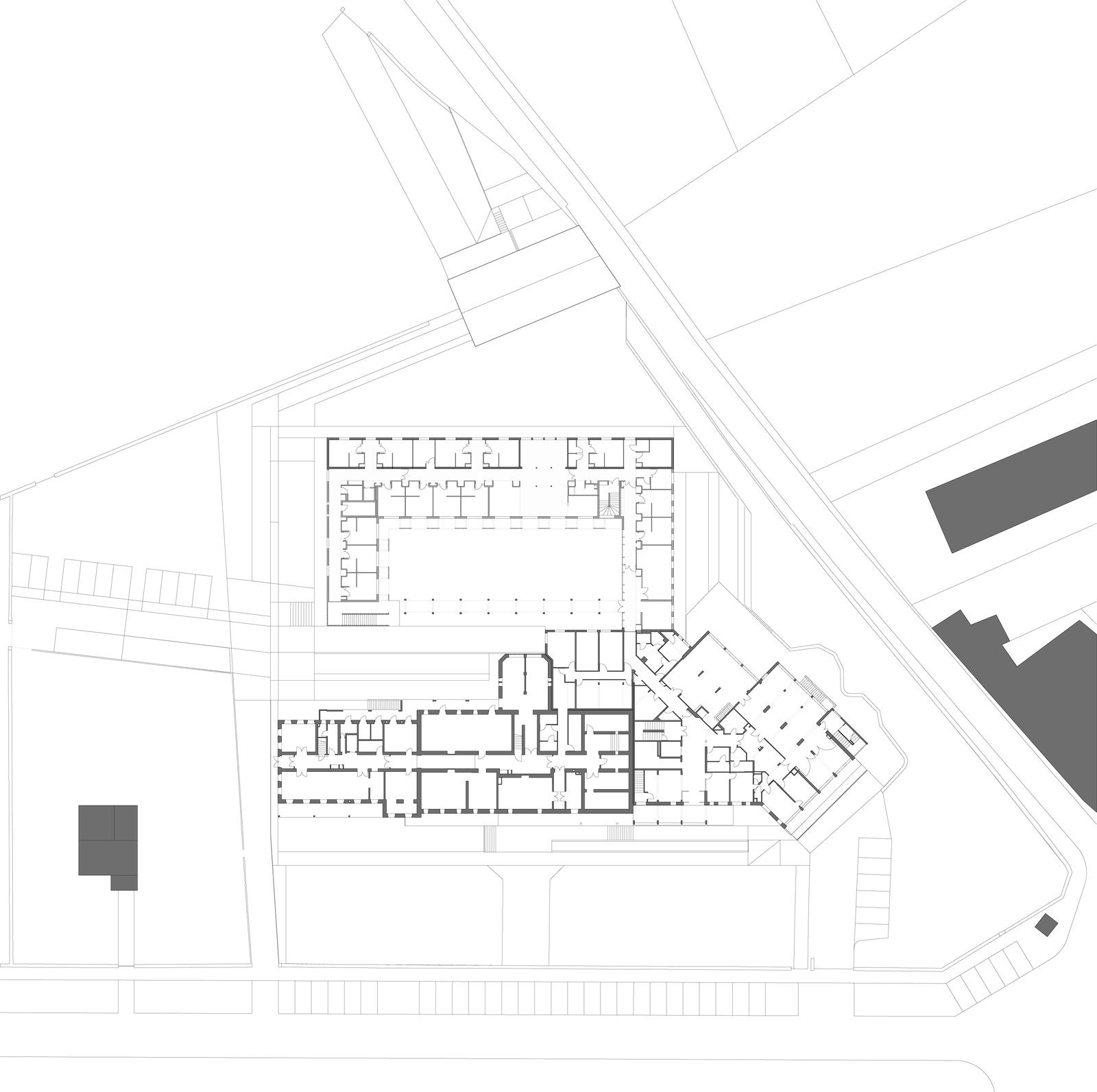 Plan du rdc de la maison de retraite