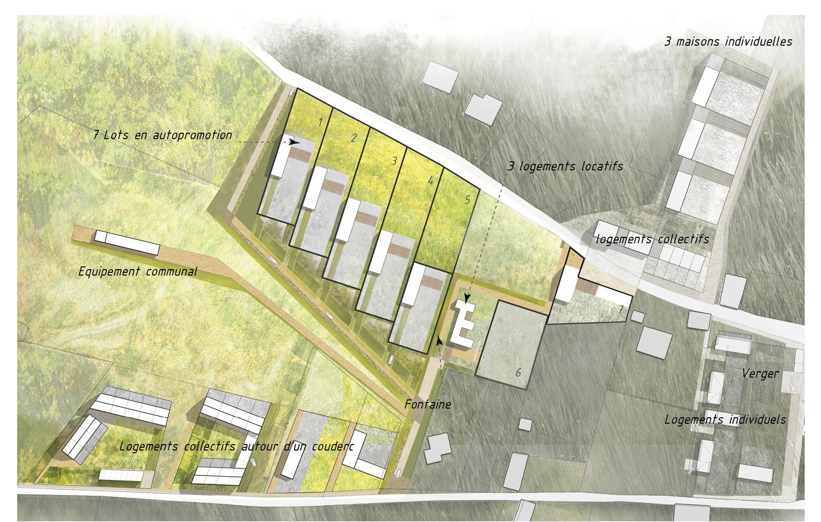 Simple le dessin et le rglement de lucohameau sont en for Architecte prix plan